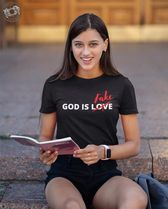 Image may contain: 1 person, sitting, text that says Fake GOD IS LOVE\