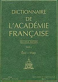 dictionaire de l'academie francais