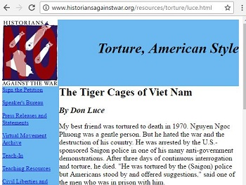 torture american style, tiger cages ò vietnam