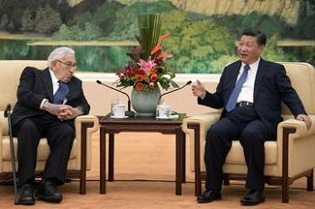 Kissinger and Xi Jing Ping on US relation