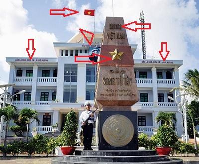 cột mốc tại đảo Song Tử Tây