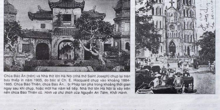 Nhà thờ lớn trên nền Chùa Báo Thiên