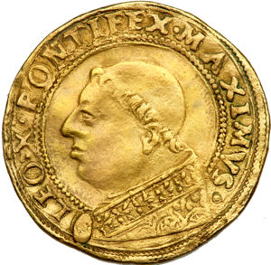 http://www.coinfactswiki.com/wiki/Papal_States_(1513-21)_2-1/2_ducats_Fr-43